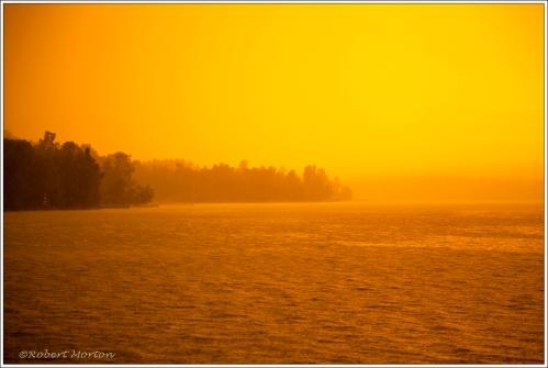 Rain Sunset Fog