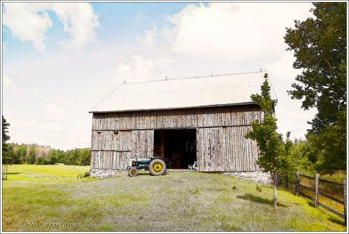 Tractor Barn Line Art