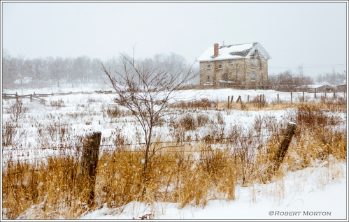 Thorne Farmhouse in Winter