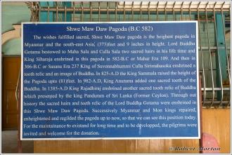 Shwe Ma Daw Pagoda Sign