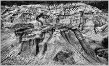 Hoodoo Erosion BW