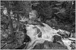 Duchesnay Waterfall BW